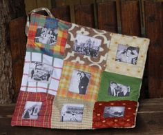 Alzheimers and Memories ~ Life's Journey,  A photo memory blanket ~ Dementia lap Quilt ~ Photo Quilt ~ Can be personalised with own photos ~
