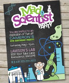Science Party ID Badge Mad Scientist ID Badge Template Editable - Mad scientist name tag template