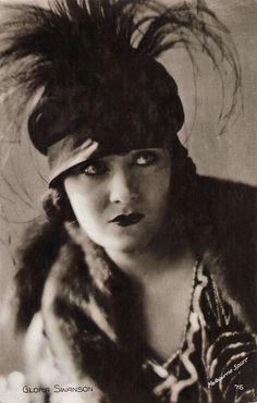 https://flic.kr/p/zffqT7 | Gloria Swanson | French postcard, no. 76. Photo: Melbourne Spurr. Gloria Swanson (1899-1983) was one of the biggest Hollywood stars of the silent era. She transformed from a typical Mack Sennett comedienne into a lively, provocative, even predatory, star in films by Cecil B. De Mille. She received Oscar nominations for Sadie Thompson (1928), The Trespasser (1929) and Sunset Blvd. (1950).