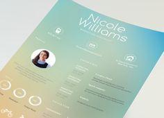 Blurred  creative resume design. Find us on Etsy