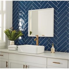 Marazzi LuxeCraft Blue 3 in. x 12 in. / - The Home Depot - Marazzi LuxeCraft Blue 3 in. x 12 in. / – The Home Depot Blue Subway Tile, Blue Tiles, Glazed Ceramic Tile, Ceramic Wall Tiles, Bathroom Wall, Master Bathroom, Blue Bathroom Tiles, Blue Bathrooms, Moroccan Tile Bathroom