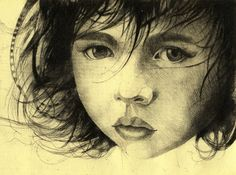 Girl Etching 2 Art Print