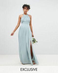 94217a84d78 TFNC Pleated Maxi Bridesmaid Dress