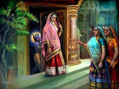 """""""All the gopī friends of Yaśodā and Rohiṇī enjoyed the naughty childish activities of Kṛṣṇa and Balarāma in Vṛndāvana. In order to enjoy further transcendental bliss, they all assembled and went to mother Yaśodā to lodge complaints against the restless boys."""""""