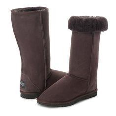 Choc Tall UGG Boots, Australian Made, 100% sheepskin. #ugg #uggboots #sheepskin #uggs #soft #warm #australianmade #choc