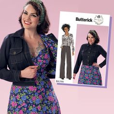 Vintage 1950's style Butterick Sewing Pattern by Gertie - B6390 Misses' Button-Down Jacket with Bust Pockets … WeaverDee.com
