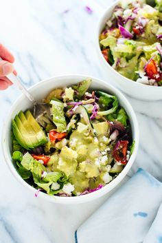 Mexican Green Salad with Jalapeño-Cilantro Dressing