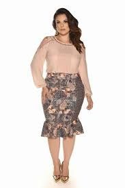 Image result for moda evangelica e executiva plus size