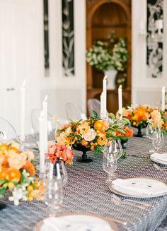 flowers, orange, outdoor, peach