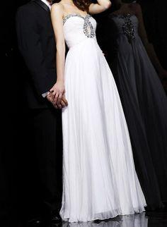 Graceful Sweetheart Neck Rhinestoned Women's Backless Floor Length Chiffon Prom Dress (GREEN,16W) | Sammydress.com