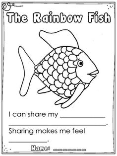For library, before they start taking books out.The Rainbow Fish - FREE Kindergarten Art Activity Kindergarten Art Activities, Kindergarten Literacy, Book Activities, Preschool Activities, Kindergarten Orientation, Emotions Preschool, Activity Books, Preschool Education, Preschool Lessons