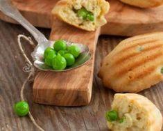Madeleines légères aux petits pois, dés de jambon et fromage râpé : http://www.fourchette-et-bikini.fr/recettes/recettes-minceur/madeleines-legeres-aux-petits-pois-des-de-jambon-et-fromage-rape.html