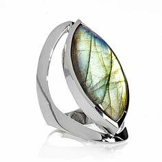 Himalayan Gems™ Marquise-Shaped Labradorite Sterling Si
