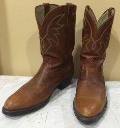 "Durango Men's TR762 Brown Leather 11"" Tall Cowboy Western Boots 13 D | eBay"