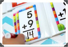 put flash cards in a photo book for instant dry-erase practice! Great for task cards also!