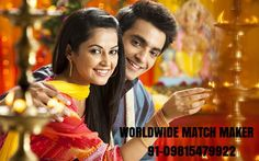 91-09815479922 With the Firm and Prosperous hands of GOD, Marriages are made in Heaven; still there are Some efforts and formalities that we have to Perform on Land at our own level c...