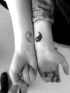 Tattoo Idea for husband and wife, sisters, or best friends.