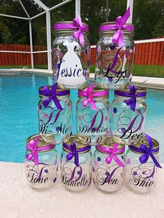 Set of 16 bride bridesmaid maid/ matron of honor by Customforless, $128.00