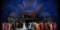 Die Fledermaus. Lyric Opera of Chicago. Scenic design by Wolfram Skalicki.