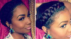 Gorgeous Goddess Braid on Short Natural Hair | Tutorial