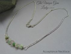 Acceptance Blend Chip Bead Beaded Bib Necklace Silver Plated Gemstone Crystal…