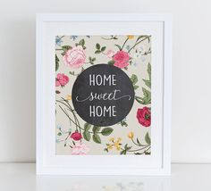 Home Sweet Home Printable Art Print от DecorartDesign на Etsy