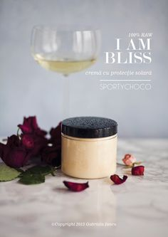 I Am Bliss - sunscreen creme SPF 25 by SportyChoco (100% raw) Photography, styling and design ©Copyright 2013 Gabriela Iancu #foodstyling #cosmeticstyling #photography #cosmeticdesign #branddesign #gabrielaiancu #whatlibertyate