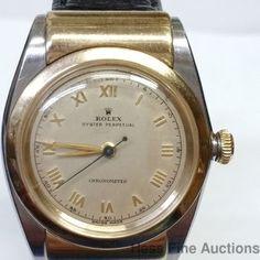 Stunning-Mens-Rare-Rolex-Bubbleback-Hooded-3065-1-Owner-Original-Dial-Watch