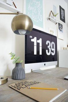 Modern & Vintage Office Reveal - brepurposed