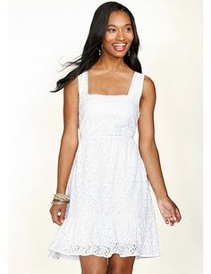 5e1fc98e71 Eyelet summer dresses Cute White Dress