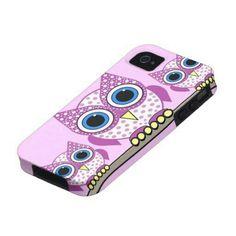 Purple owl phone case