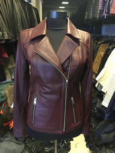 Real burgundy leather jacket, #leonardoleather presents !!!