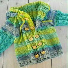 Baby Knitting Patterns, Baby Sweater Patterns, Knitting For Kids, Cardigan Bebe, Toddler Cardigan, Baby Cardigan, Girls Sweaters, Baby Sweaters, Crochet Girls