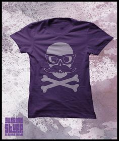 Skull tshirt women's Incognito skull with by purplecactusdesign, $23.99