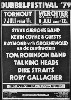 Rory Gallagher 79-Tourhout,Rock Blues Festival,Werchter concert poster