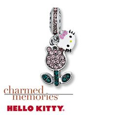 Charmed Memories Hello Kitty Flower Charm Sterling Silver