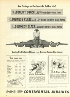 Continental Airlines Advert