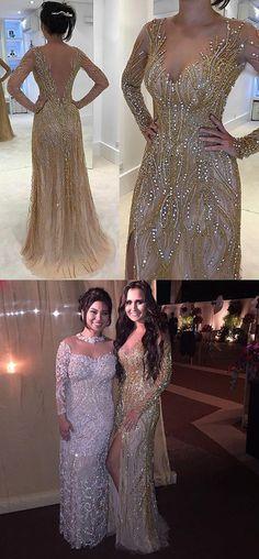 Sheath Prom Dresses,Illusion Prom Dresses,Bateau Prom Dresses,Light Champagne Prom Dresses,Tulle Prom Dresses,Prom Dresses with Beading,Charming Prom Dresses,Party Prom Dresses,Prom Dresses 2017
