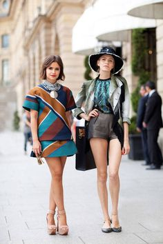 Couture Street Style A little leg and a lot of pattern is a one way ticket to very cool!