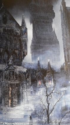 Art of Bloodborne City  More here! http://lamaisonmusee.com/