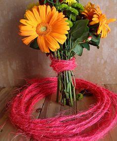 Wired Hot Pink Sisal Twine - 10 Meters Sisal Twine, Jute, Event Decor, Harvest, Hot Pink, Burlap, Eco Friendly, Floral Design, Fiber