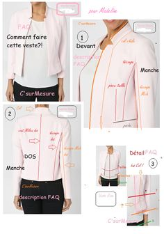 """Faq: how to make this """"pink jacket""""? for Madeline Blazer Pattern, Jacket Pattern, Make Your Own Clothes, Diy Clothes, Dress Sewing Patterns, Blouse Patterns, Corsage, Couture Sewing, Couture Tops"""