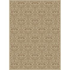 Concord Global Valencia Rectangular Cream Transitional Area Rug (Common: 9-ft x 12-ft; Actual: 9-ft 3-in x 12-ft 6-in)