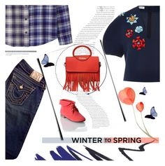 """#wintertospring"" by helia ❤ liked on Polyvore featuring мода, Balenciaga, Delpozo, True Religion, Breckelle's и Wintertospring"