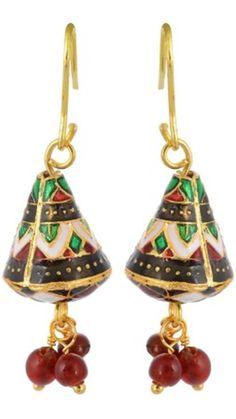 Buy Waama Jewels charming red green Metal Dangle Earring, Earring Wear in patry, top earring, jewellery, bollywood, goldfilled earrings wj026 Online at Low Prices in India - Paytm.com