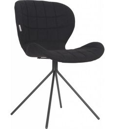 Zuiver Upholstered Side Chair in Black Diy Chair, Sofa Chair, Upholstered Chairs, Swivel Chair, Chair Pads, Leather Dining Room Chairs, Living Room Chairs, Black Office Furniture, Deco Baroque