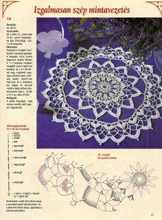World crochet: napkin Crochet Doily Diagram, Crochet Buttons, Crochet Stitches Patterns, Thread Crochet, Crochet Doilies, Crochet Headband Free, Crochet Dreamcatcher, Crochet Tablecloth, Round Tablecloth