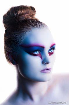 High fashion makeup.  Joanna Strange, gingerface model & elysium photography