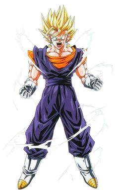 "#Vegito as a Super Saiyan. Slow clap for the anime since Toriyama originally had the gay name of ""Vegerrot"" or something like that."