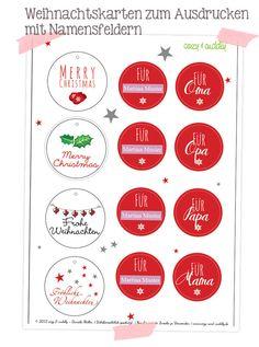 Weihnachtsanhänger/ Geschenkanhänger. PDF zum ausdrucken mit Formularfeldern. Printable, Freebie
